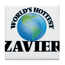 World's Hottest Zavier Tile Coaster