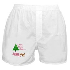 Christmas Squirrel Boxer Shorts