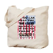 Thank Teacher & Soldier Tote Bag
