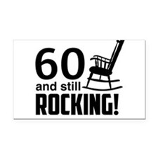 60 and Still Rocking! Rectangle Car Magnet