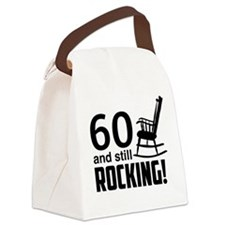 60 and Still Rocking! Canvas Lunch Bag