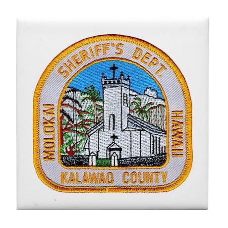 Kalawao County Sheriff Tile Coaster