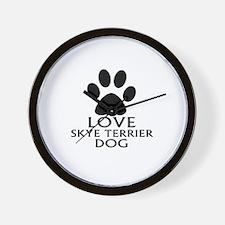 Love Skye Terrier Dog Wall Clock