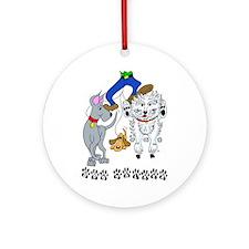 Dog Walker Ornament (Round)