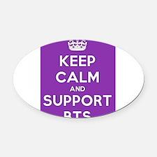 Support BTS Oval Car Magnet