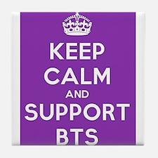 Support BTS Tile Coaster