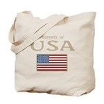 Property of USA Flag July 4th Tote Bag