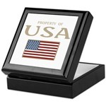 Property of USA Flag July 4th Keepsake Box