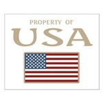 Property of USA Flag July 4th Small Poster