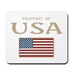 Property of USA Flag July 4th Mousepad