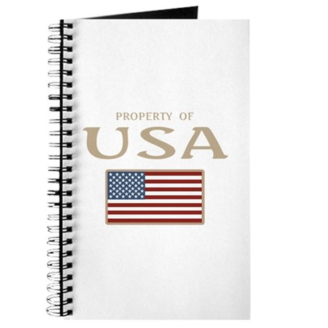 Property of USA Flag July 4th Journal