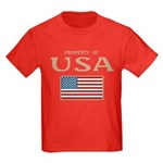 Property of USA Flag July 4th Kids Dark T-Shirt