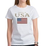 Property of USA Flag July 4th Women's T-Shirt