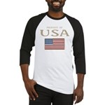 Property of USA Flag July 4th Baseball Jersey
