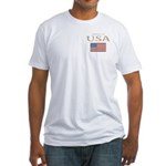 Property of USA Flag July 4th Fitted T-Shirt