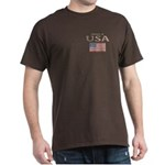 Property of USA Flag July 4th Dark T-Shirt