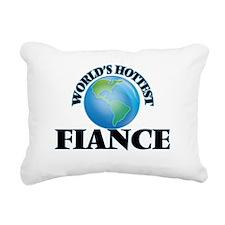 World's Hottest Fiance Rectangular Canvas Pillow