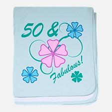 Fabulous 50th Birthday baby blanket