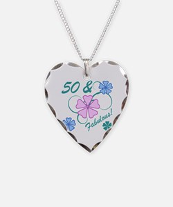 Fabulous 50th Birthday Necklace Heart Charm