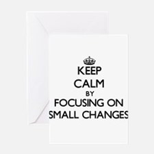 Keep Calm by focusing on Small Chan Greeting Cards