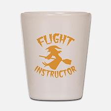 Halloween witch FLIGHT INSTRUCTOR Shot Glass