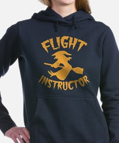 Halloween witch FLIGHT INSTRUCTOR Women's Hooded S