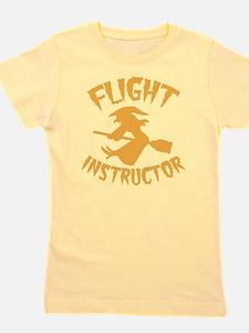 Halloween witch FLIGHT INSTRUCTOR Girl's Tee