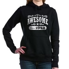 Awesome Since 1942 Women's Hooded Sweatshirt