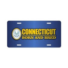 Connecticut (born and bred) Aluminum License Plate