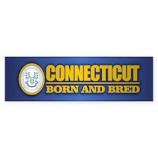 Connecticut (born and bred) Bumper Bumper Sticker