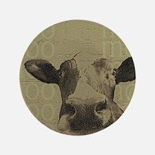 "Moo Cow 3.5"" Button"