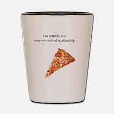 pizza relationship Shot Glass