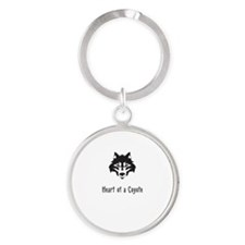 Heart of a Coyote Keychains