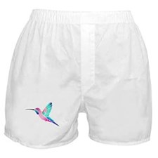 Raspberry Mint Sorbet Hummingbird Boxer Shorts