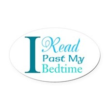 Rebel Reader Oval Car Magnet