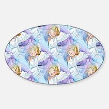 Praying Angel- Sticker (oval)