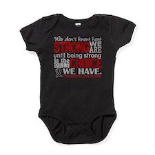 Melanoma HowStrongWeAre Baby Bodysuit