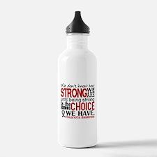 Melanoma HowStrongWeAr Water Bottle