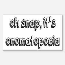 Oh Snap, It's Onomatopoeia Sticker (Rectangle)