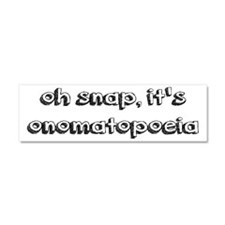 Oh Snap, It's Onomatopoeia Car Magnet 10 x 3