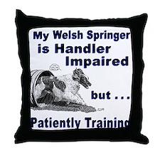 Welsh Springer Spaniel Agilit Throw Pillow