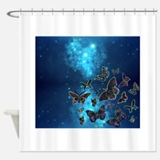 Funny Butterflies Shower Curtain