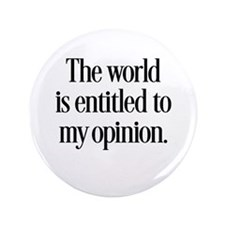 "My Opinion 3.5"" Button (100 pack)"