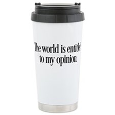 My Opinion Travel Mug