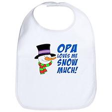 Opa Loves Me Snow Much Bib