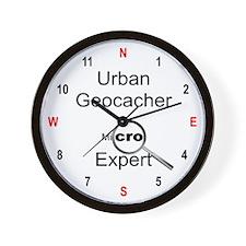 Urban Geocacher Wall Clock
