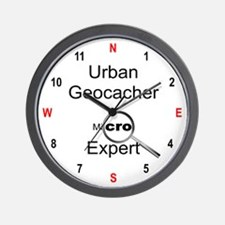 Urban Geocacher Wall Clock