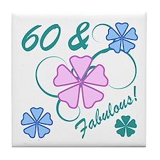 Fabulous 60th Birthday Tile Coaster