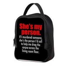 My Person Black Neoprene Lunch Bag