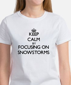 Keep Calm by focusing on Snowstorms T-Shirt